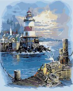 Картина по номерам «Пирс у маяка» 40x50 см