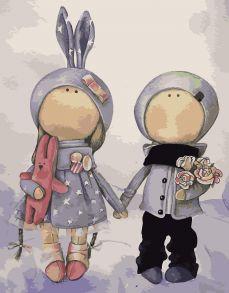Картина по номерам «Куклы Аня и Ваня» 30x40 см