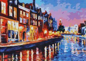 Картина по номерам «Огни города» 40x50 см
