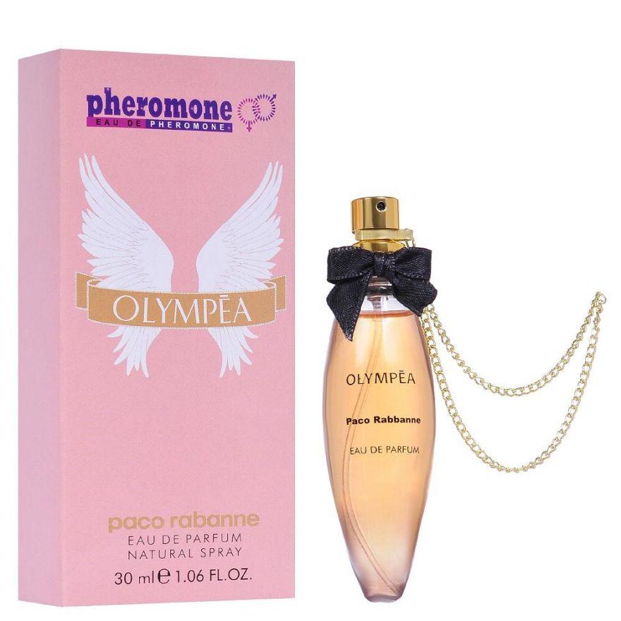 Мини-парфюм с феромонами Paco Rabanne Olympea 30 мл (с цепочкой)