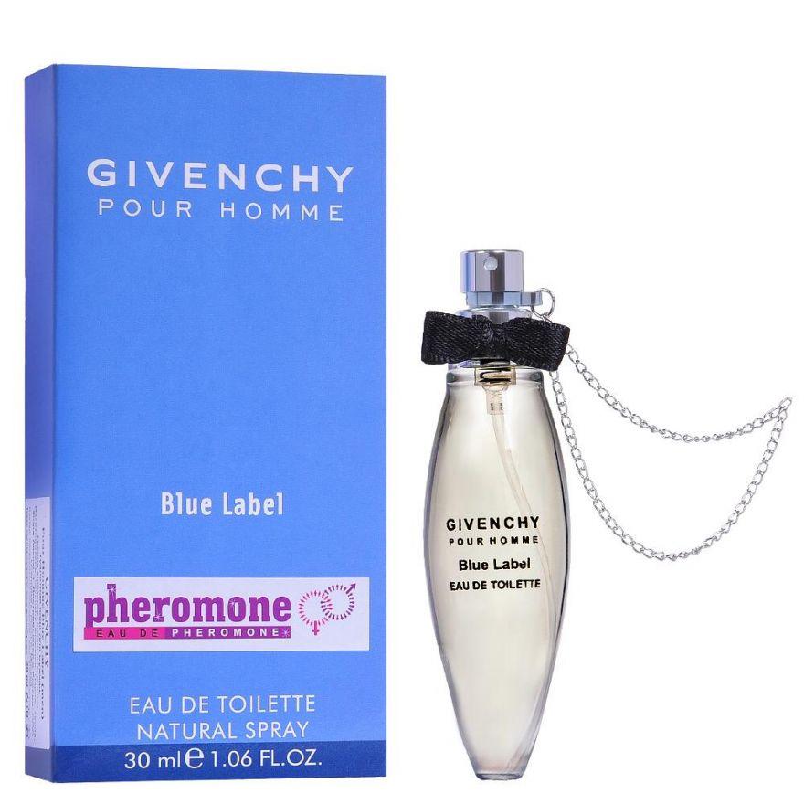 Мини-парфюм с феромонами Givenchy Pour Homme Blue Label 30 мл (с цепочкой)