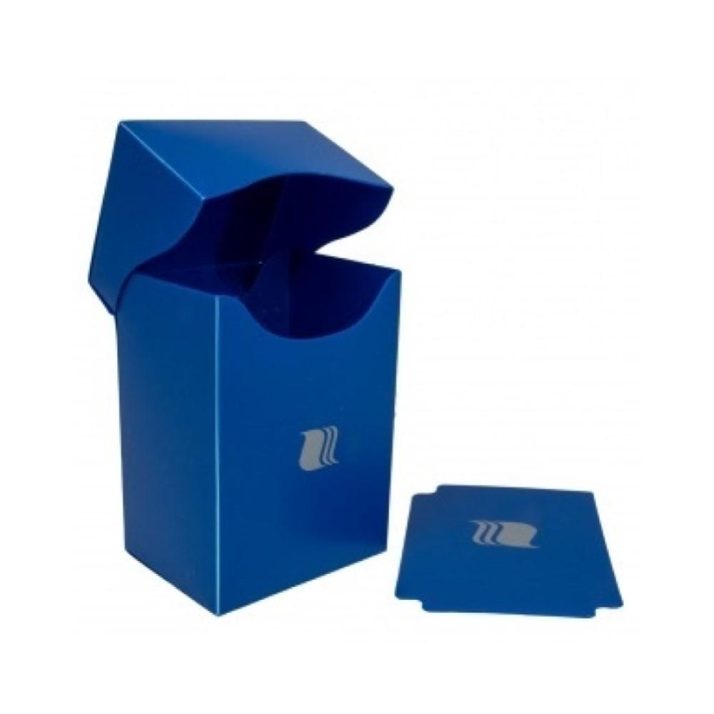Пластиковая коробочка Blackfire вертикальная - Синяя (80+ карт)