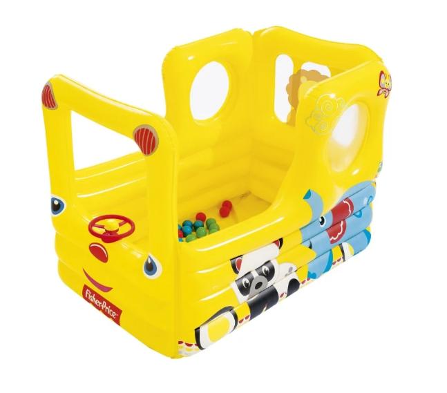 Детский бассейн Bestway Fisher-Price Школьный автобус 93506
