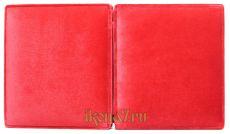 Складень малый простой 5 Казанская-Спаситель (бордовый бархат)