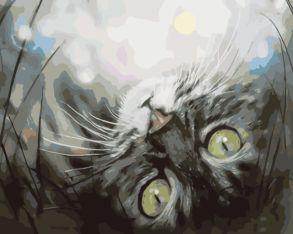 Картина по номерам «Кошечка в мечтах» 30x40 см