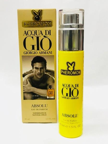 Мини-парфюм с феромонами Giorgio Armani Aqua Di Gio Absoiu  45 ml