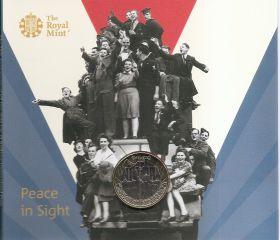 75 лет Победы 2 фунта Великобритания 2020 Буклет.на заказ