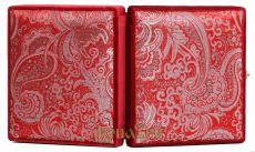 Складень средний 12 Красная парча Казанская-Спаситель