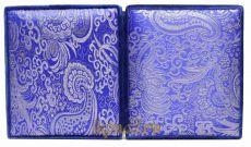 Складень средний 13 Синяя парча Казанская-Спаситель