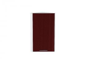 Шкаф верхний торцевой Валерия ВТ230 (гранатовый металлик)