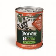 Monge BWild Grain Free Беззерновые консервы для собак всех пород: индейка с тыквой и кабачками, 400 гр