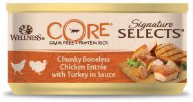 CORE SIGNATURE SELECTS консервы из курицы с индейкой в виде фарша в соусе для кошек 79 г