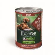Monge BWild Grain Free Беззерновые консервы для собак всех пород: ягненок с тыквой и кабачками, 400 гр
