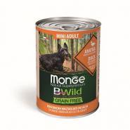 Monge BWild Grain Free беззерновые консервы для собак малых пород: утка с тыквой и кабачками, 400 гр