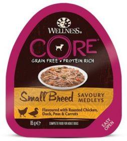 CORE SMALL BREED консервы из курицы с уткой, горошком и морковью для собак мелких пород 85 г
