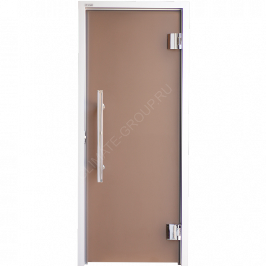 Дверь стеклянная Grandis GS 7*19 Anodize Silver Bronze