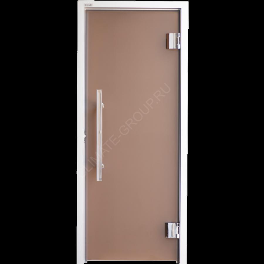 Дверь стеклянная Grandis GS 7*19 Anodize Silver Bronze Matelux