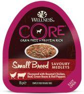 CORE SMALL BREED консервы из курицы с говядиной, зеленой фасолью и красным перцем для собак мелких пород 85 г