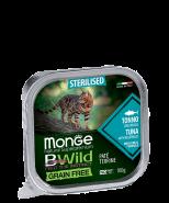 Monge BWild Cat Grain Free Paté terrine Tonno - тунца с овощами для стерилизованных кошек.100г