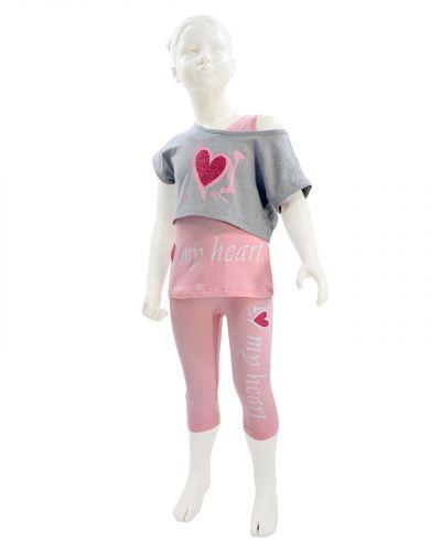 """Костюм для девочек 4-8 лет BONITO kids """"My Heart"""" розовый"""