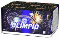 """Батарея салютов OLIMPIC 0,8""""-1""""-1,2"""" 68 выстрелов 8 эффектов + ВЕЕР W h-175 мм"""