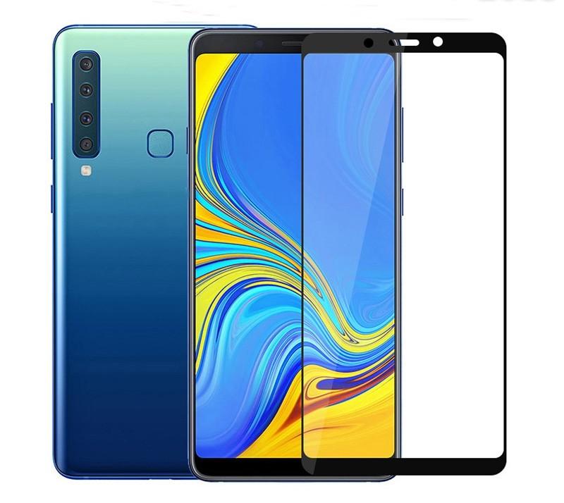 Защитное стекло на Samsung A9(2018) с рамкой