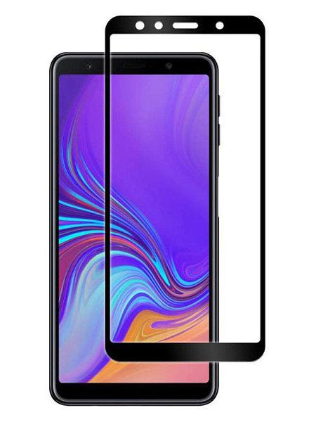 Защитное стекло на Samsung А7 (2018) с рамкой