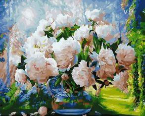 Картина по номерам «Восхитительные пионы» 40x50 см