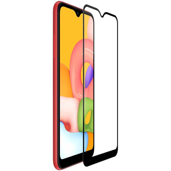 Защитное стекло на Samsung А01 с рамкой