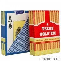 "Карты пластиковые (100% пластик) ""Texas Holdem"""