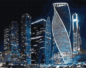 Картина по номерам «Москва Сити» 40x50 см