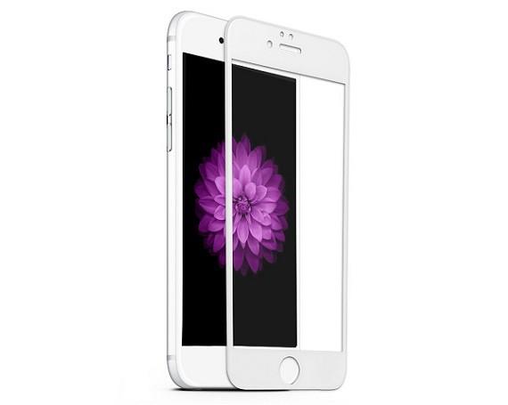 Защитное стекло на iPhone 6 Plus с рамкой