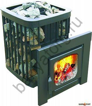 Дровяная печь для бани Варвара Каменка Панорама