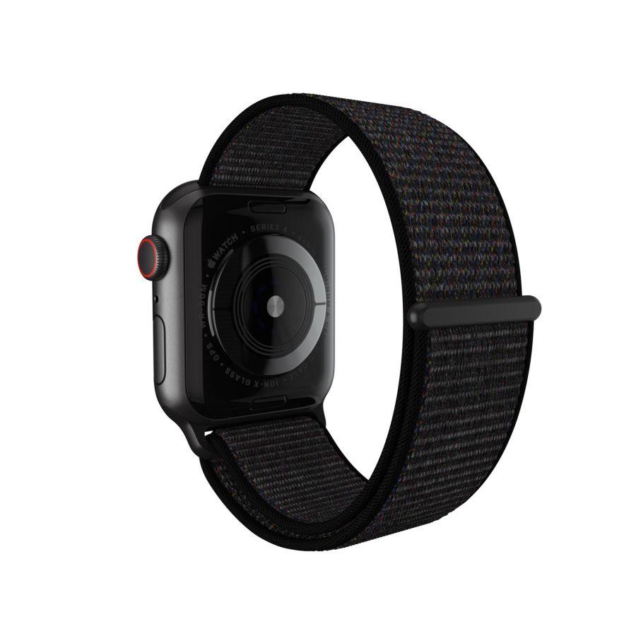 Браслет Apple Watch тканевый на липучке 38-40mm Black