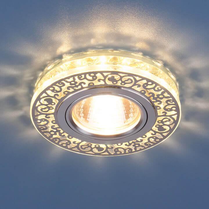 Встраиваемый светильник Elektrostandard 6034 MR16 CH/CL хром/прозрачный 4690389055713