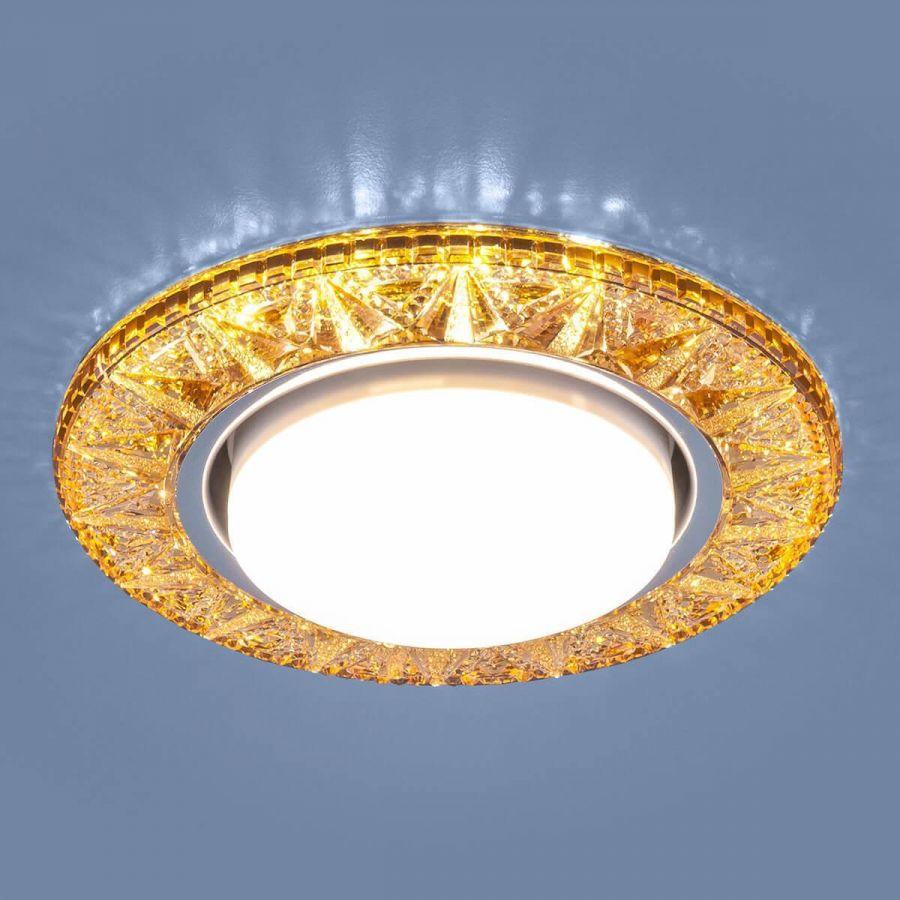 Встраиваемый светильник Elektrostandard 3022 GX53 GD золото 4690389100055