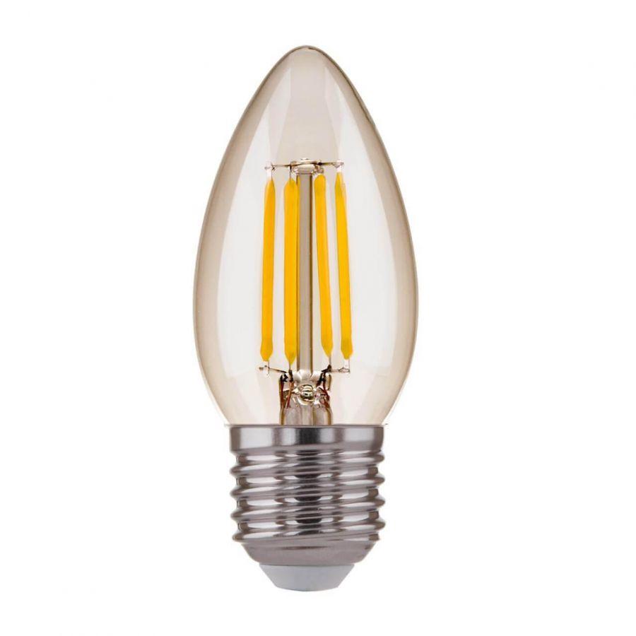 Лампа светодиодная филаментная Elektrostandard E27 7W 4200K прозрачная 4690389125263
