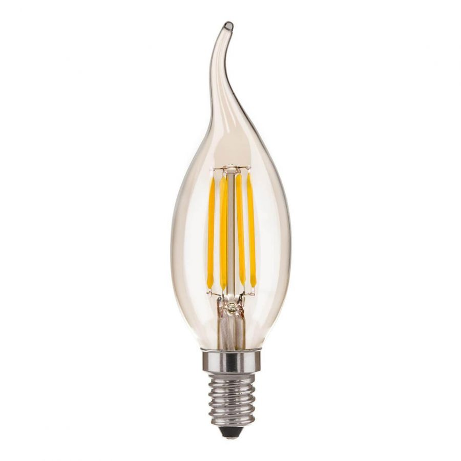 Лампа светодиодная филаментная Elektrostandard E14 7W 4200K прозрачная 4690389128363