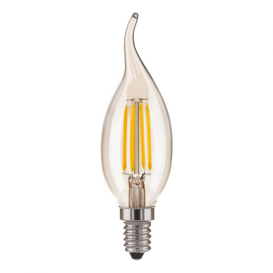 Лампа светодиодная филаментная Elektrostandard E14 7W 3300K прозрачная 4690389128356