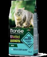 Monge BWild Cat GRAIN FREE Беззерновой корм из трески, картофеля и чечевицы для взрослых кошек 1,5 кг