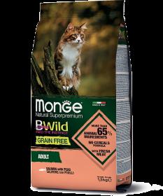 Monge BWild Cat GRAIN FREE SALMONE CON PISELLI  лосося и гороха 1.5RU
