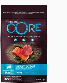 CORE Корм из лосося с тунцом для взрослых собак средних и крупных пород 10 кг