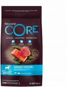 CORE Корм из лосося с тунцом для взрослых собак средних и крупных пород 1,8 кг