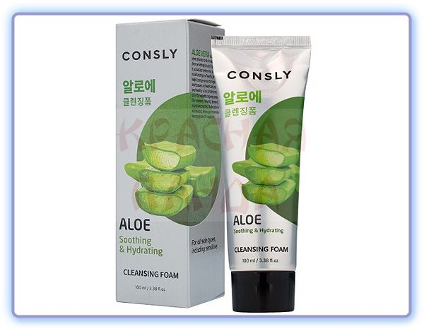 Consly Aloe Vera Soothing Creamy Cleansing Foam