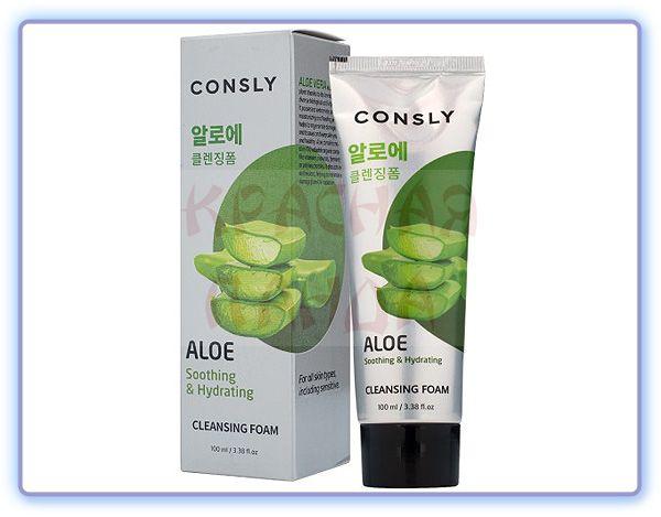 Пенка для умывания c экстрактом алоэ вера Consly Aloe Vera Soothing Creamy Cleansing Foam