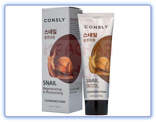 Пенка для умывания c муцином улитки Consly Snail Mucus Regenerating Creamy Cleansing Foam