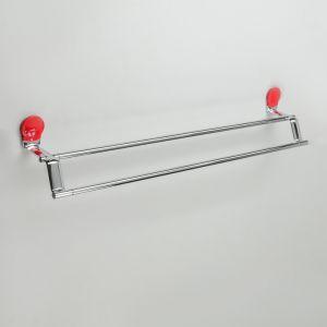Держатель для полотенец двойной Accoona A11807N, цвет красный