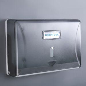 Диспенсер бумажных полотенец в листах, пластиковый, цвет серый