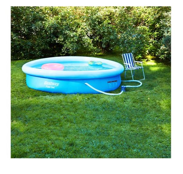 Бассейн надувной круглый Bestway Fast Set (457х84 см) (В комплекте: Фильтр-насос)