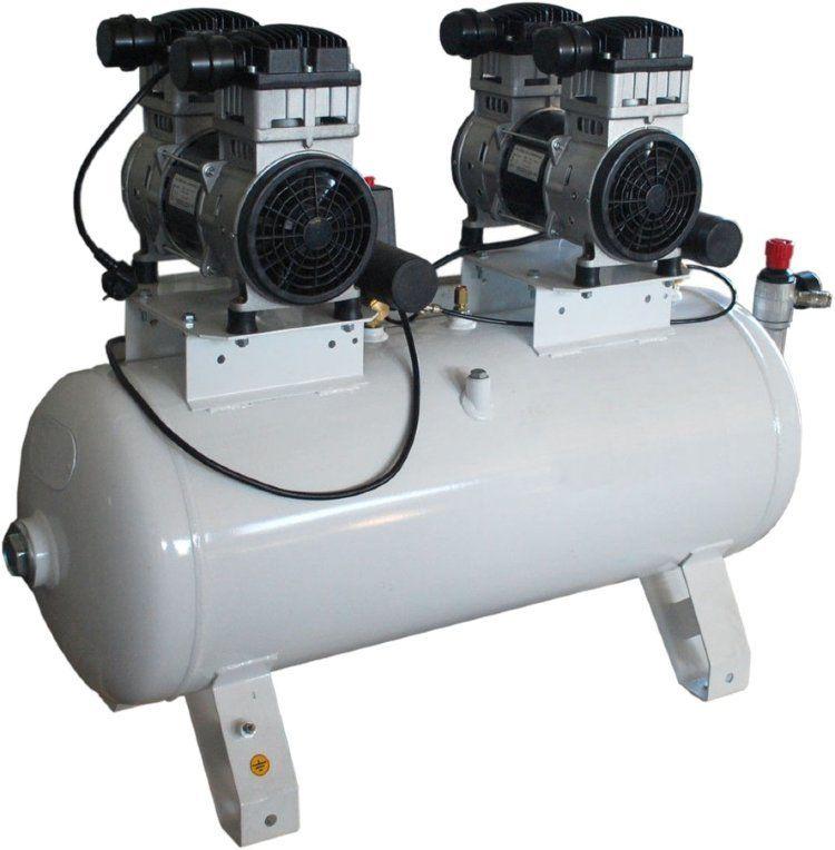Компрессор поршневой безмасляный малошумный, с прямым приводом 100.OLD20-3Т/10 REMEZA: 250 л/мин., 10 бар, ресивер 100 л., 2,8 (1,4+1,4) кВт, 380В